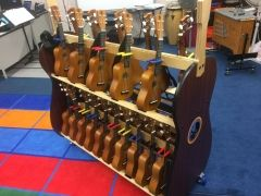 ukulele cart for classrooms