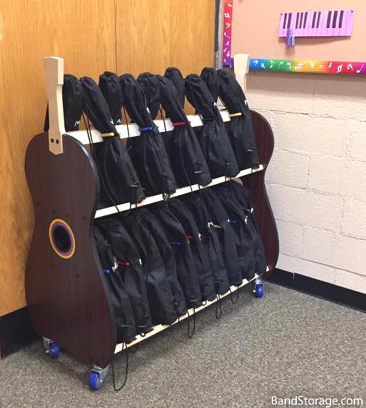 student ukulele storage
