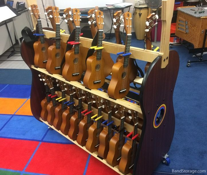 ukulele cart for classrooms