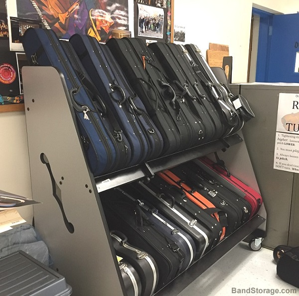 violin case cart