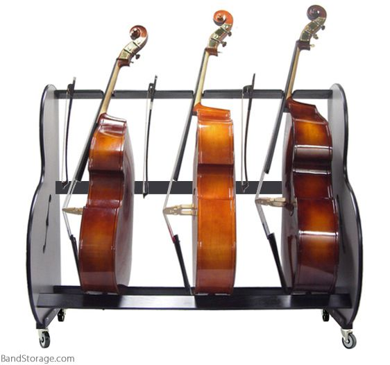 Double-Bass Storage Rack front