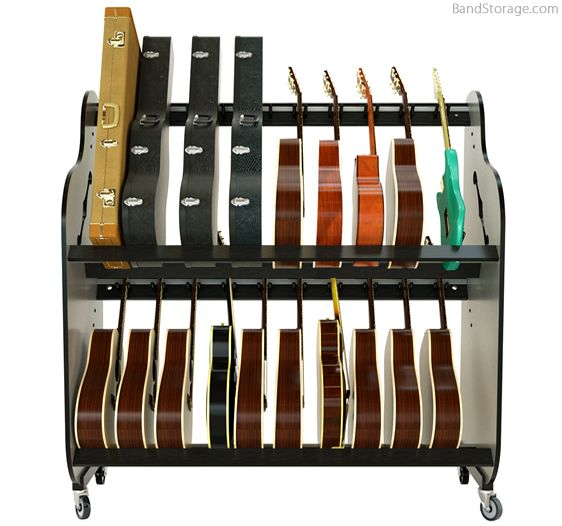 Guitar Storage Carts For Music Classrooms Band Storage