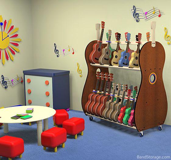 Classroom Ukulele Storage