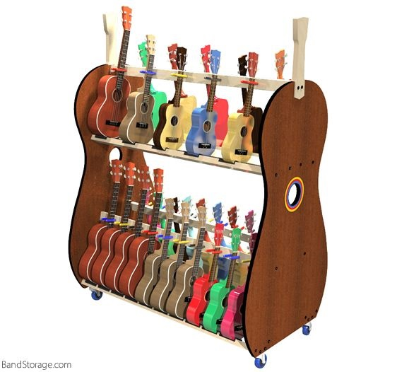 Ukulele Storage Cart For Teachers