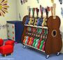 kindergarten ukulele shelves