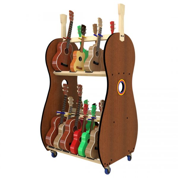 18 ukulele storage shelf rack