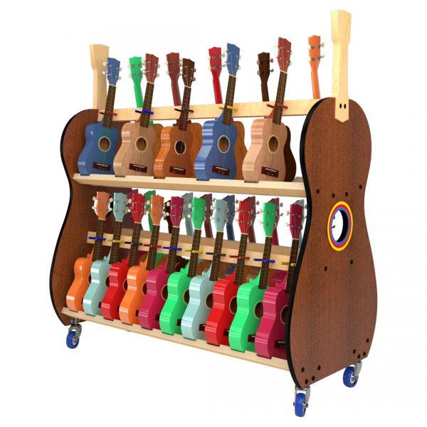 30 soprano ukulele storage rack