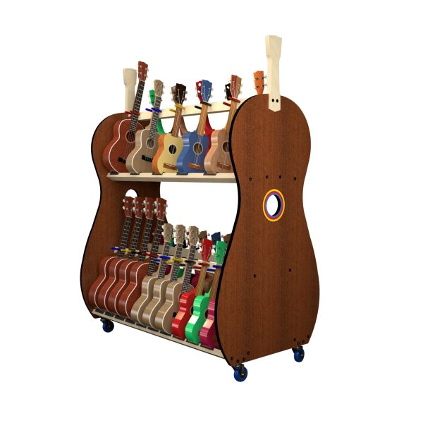 30 ukulele storage shelf rack