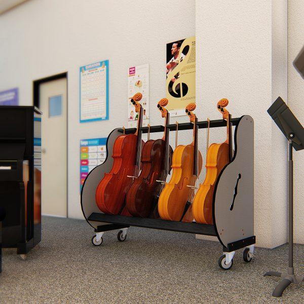 cello storage for schools