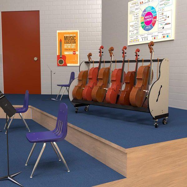 classroom cello storage