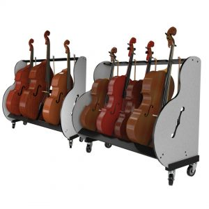 double bass storage carts