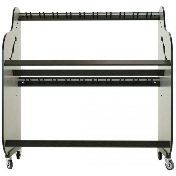 empty guitar shelf rack with pegs