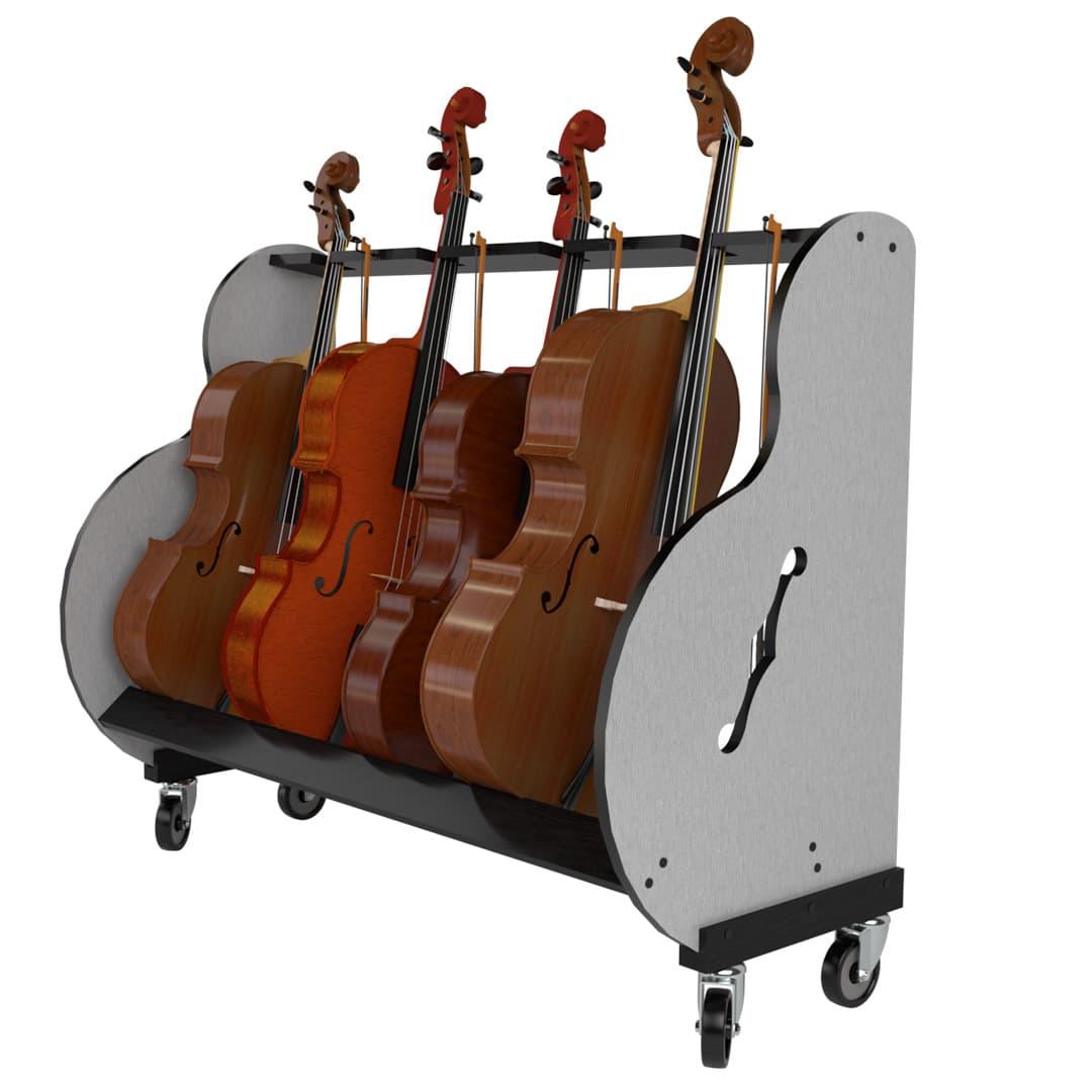 four cello storage cart