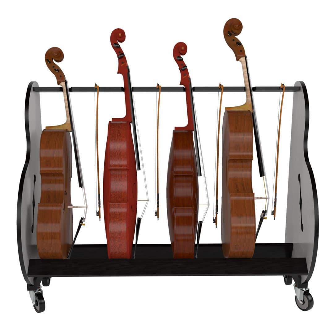four cello storage rack