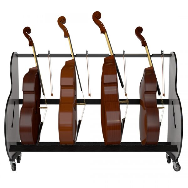 four double bass storage cart