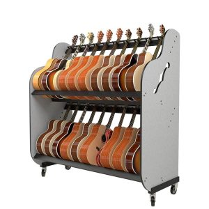 rolling guitar storage shelves for schools