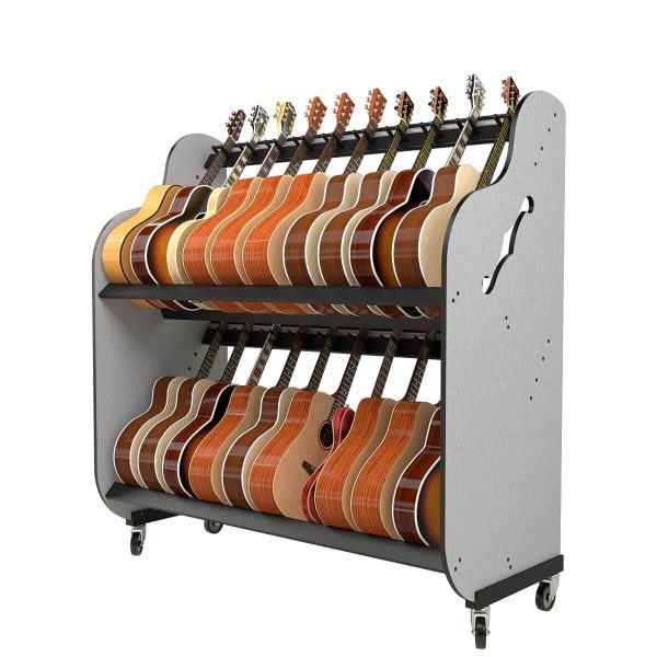 rolling guitar storage shelves for schools
