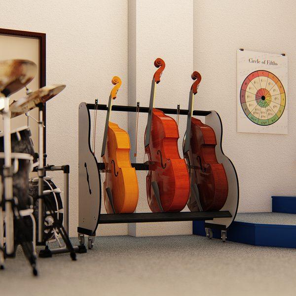 school double bass storage