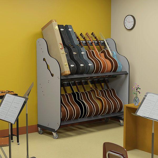 school guitar storage shelf rack