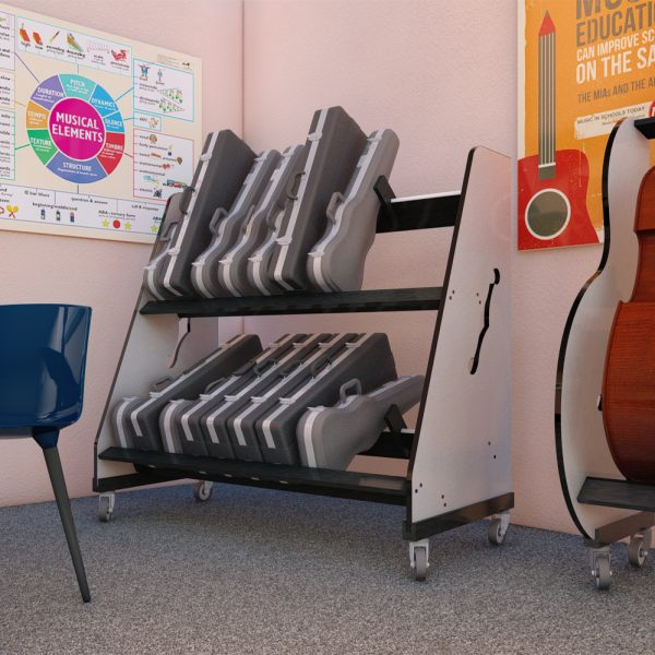 school violin storage rack