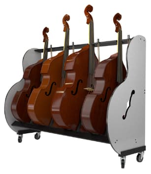 Double Bass Storage Rack for Classrooms