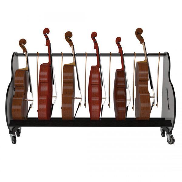 six cello storage cart
