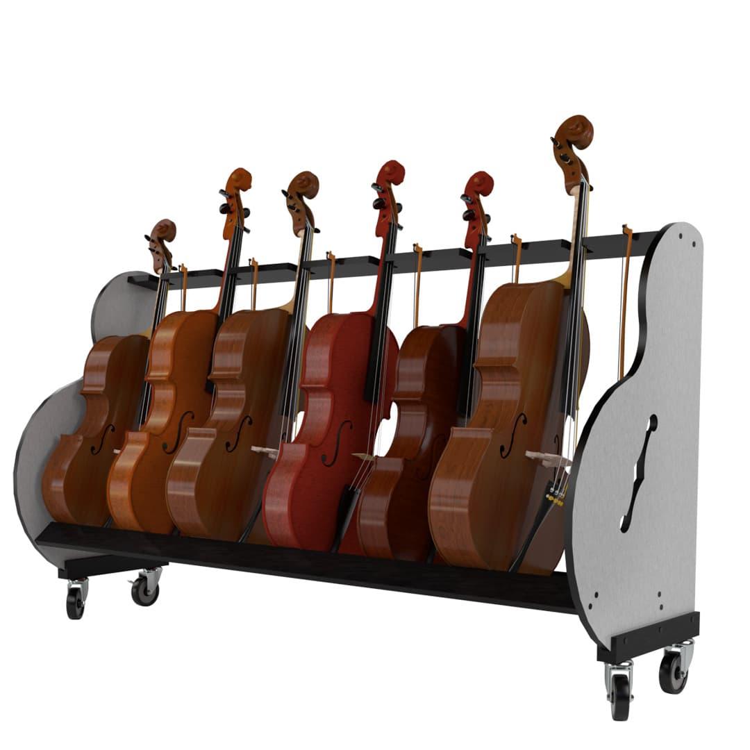 six cello storage rack