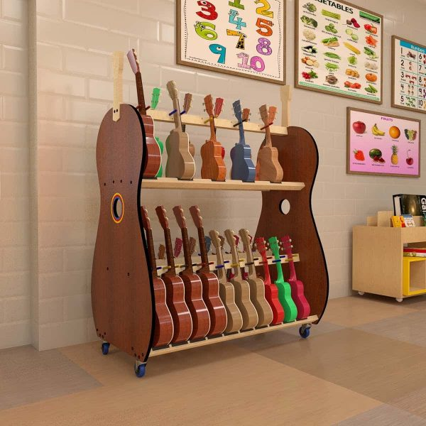 ukulele storage for schoolroom